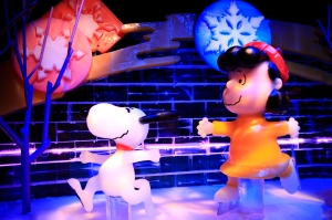 Snoopy and Lucy Ice Skating